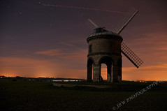 Chesterton Windmill By Moonlight (JRT ) Tags: road longexposure windows wallpaper sky windmill field grass night clouds plane stars nikon neon glow motorway bricks sails landing m42 moonlight lead d90 bhx chestertonwindmill johnwarwood 1632ad flickrjrt