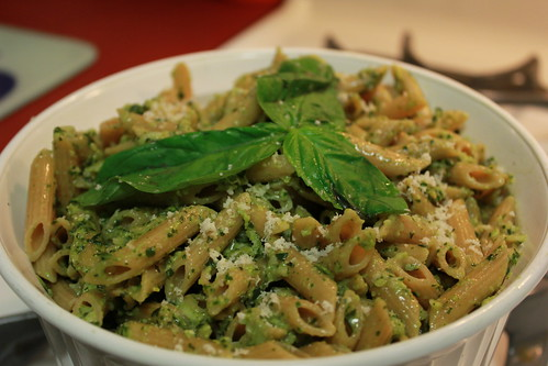 Pennette with Basil Pesto