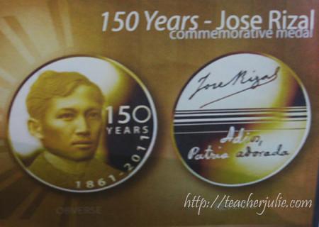 Jose Rizal Commemorative Coin
