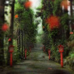 The Gentle Path to the Beyond (Stuck in Customs) Tags: world travel red japan forest photography blog high woods october shrine asia dynamic stuck path scenic shift photograph caldera sacred lanterns shinto tilt volcanic range kanagawa hakone 2009 hdr trey gentle travelblog dreamcatcher customs ashinoko tiltshift  hakonemachi  lakeashi ratcliff kanagawaken fujihakoneizunationalpark ashinokolake  kanagawaprefecture  hdrtutorial stuckincustoms treyratcliff photographyblog stuckincustomscom hakonelake fujihakoneizukokuritsuken nikond3x  ashigarashimogun ashigarashimodistrict hakonepass mounthakone soetop50spotsfordaydreamers