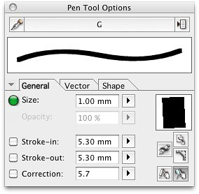 My Manga Studio Pro brush settings