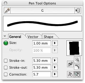 My Manga Studio Pro brush settings