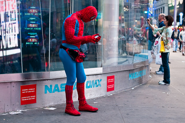 163/365 - Spider-Man, Times Square.