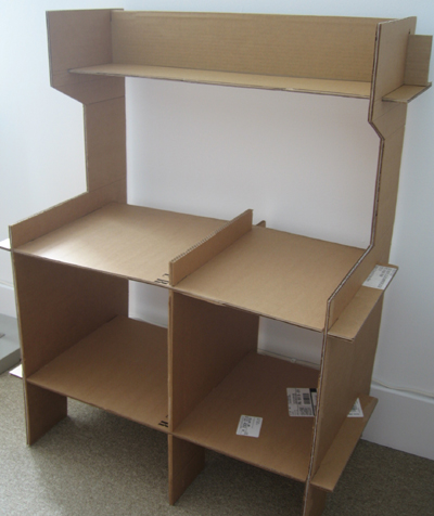 Toy Kitchen - cardboard assembled