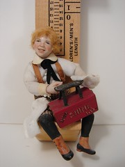Porcelain Shoeshine Kid 1:12 Scale Miniature Doll