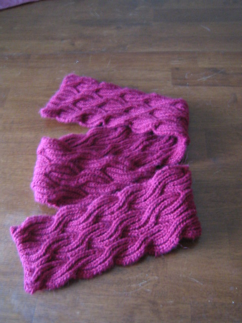 Reversible Cabled Brioche Stitch Scarf by Saralyn Harvey
