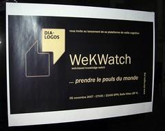 Carton d'invitation lancement WeKWatch