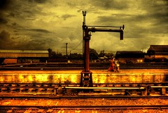 ...The Train is gone (Osvaldo_Zoom) Tags: sunset fab india train empty gone railwaystation dehli waterpump railroadtracks greatphotographers instantfave golddragon abigfave photology defidefiouiner platinumphoto anawesomeshot colorphotoaward goldenphotographer diamondclassphotographer ysplix adoublefave overtheexcellence goldstaraward