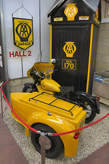 1960 BSA M21 AA Combo. (Canis Major) Tags: uk cars car museum automobile 2000 somerset boxes 500 1000 aa automobiles combination sidecar association callbox bsa carpediem motoring m21 2for2 sparkford haynesmotormuseum
