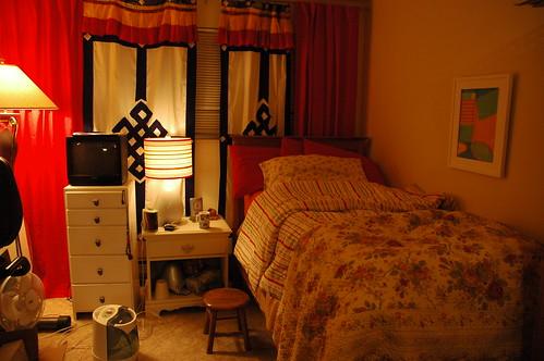 my bedroom just how it is little twin bed tibetan door covers for