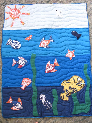Binded and quilted -- done!