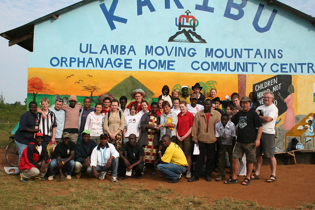 Moving Mountains staff with volunteers at Ulamba Orphanage