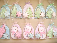christmas cookies 142 (hello naomi) Tags: snowflake christmas pink blue white tree green cookies snowman purple decorative goods packaged button baked