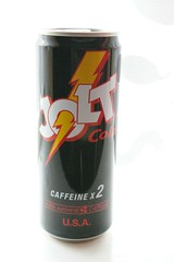 A can of Jolt Cola, Caffeine X2 ENERGY DRINK