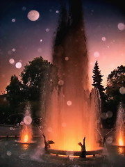 Night drops (Emilofero) Tags: water fountain europe artistic expression bulgaria balkans plovdiv mywinners ysplix scenicsnotjustlandscapes