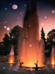 Night drops (Emilofero) Tags: water fountain europe artistic expression bulgaria balkans plovdiv mywinners ysplix scenicsnotjustlandscapes