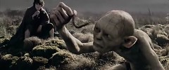 Gollum and his pet worm