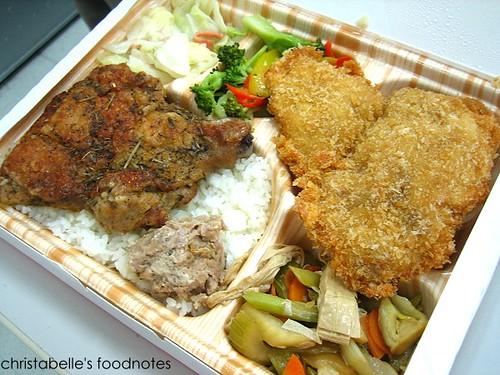 法琪歐義式餐盒 歐陸雙拼  香草雞腿拼威尼斯魚  a luxurious lunchbox