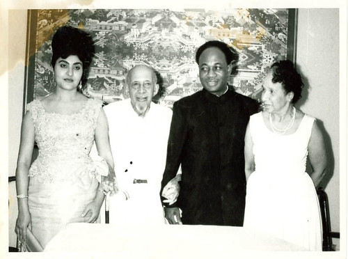 Madame Fathia, W.E.B. DuBois, President Kwame Nkrumah and Shirley Graham DuBois in Ghana in 1963 on the 95th Birthday of Dr. DuBois. Shirley Graham DuBois was the first director of Ghana National Television between 1964-66. by Pan-African News Wire File Photos