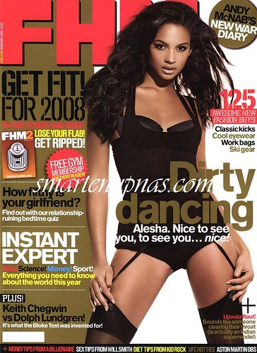 Pictures from FHM MAGAZINE UK EDITION WITH Alesha Dixon