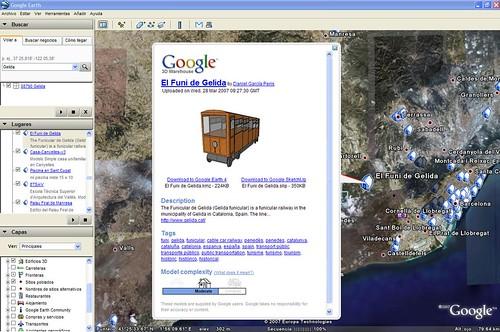 El Funi de Gelida a la Galería 3D de Google Earth
