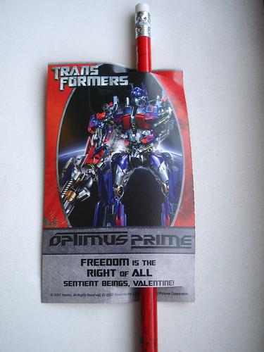 Transformers Valentine