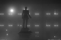 071223_0038 (taivasalla) Tags: windows light blackandwhite bw sculpture window lamp statue fog night finland geotagged helsinki memorial figure kruununhaka senaatintori aleksanterinkatu senatesquare yö valo patsas aleksi sumu alexanderii veistos ikkuna humanfigure muistomerkki lamppu mustavalkoinen nikond200 hahmo ikkunoita aleksanteriii ihmishahmo