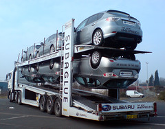 """The new Impreza - It sticks to the road"" : Subaglue transporter (Bobasonic) Tags: man upsidedown subaru impreza digest blackcountry cartransporter subaglue bigpicture2008 subagluetransporter thenewimpreza itstickstotheroad"