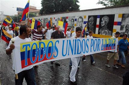 Colombia y Venezuela: Marcha 6 marzo contra el paramilitarismo