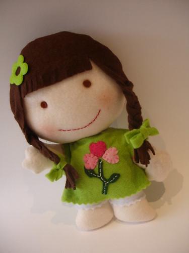 Felt doll (Emily)