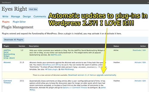 Upgrade Plug-Ins Automatically in WordPress 2.5