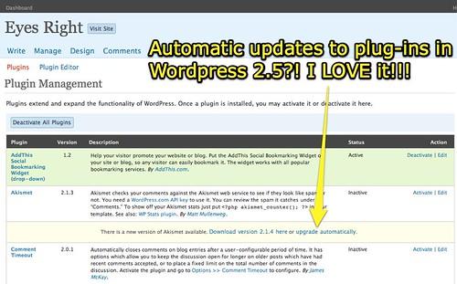 Upgrade Plug-Ins Automatically in WordPress 2.5