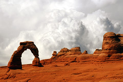 Storm Behind Delicate Arch (NaturalLight) Tags: park clouds utah arch arches national delicate cumulonimbus mywinners superbmasterpiece