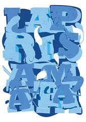 laprisamata poster (laprisamata) Tags: art azul nude poster typography design movimiento lettering typo diseo bukkake letras hentai tipografa tipos laprisamata