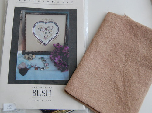Quaker Heart and 40 ct. Fawn Linen