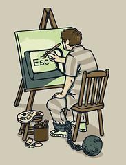 Escape Artist - Ball & Chain by wanderingbert