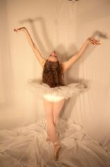 Ballet Prayer (Psych101) Tags: ballet woman pose hair dance ballerina toe danza longhair curls dancer tights shows pointe tush redhair baile tutu dans leotard danser ballo ballett frilly bailar frills balett pointeshoes toeshoes ballerine