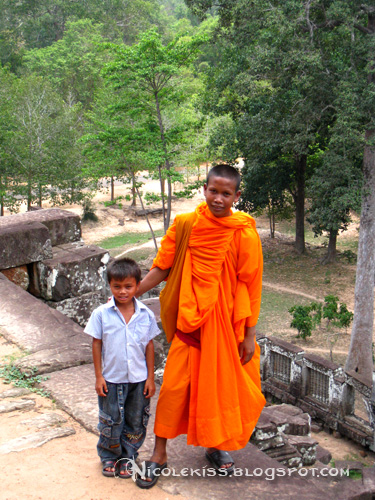 cambodian monk and kid