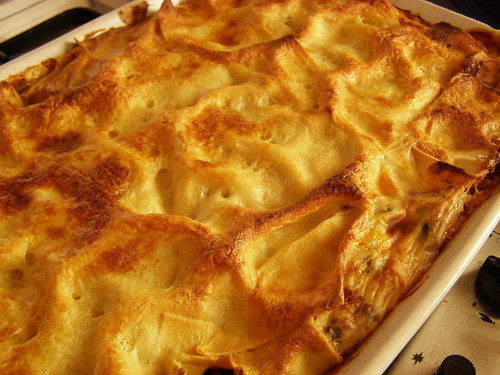 lasagne cooked