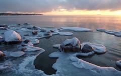 Cold & Hazy #02 (tinamar789) Tags: ice icy winter sea seashore seascape sunset snow rocks mist haze hazy cold freezing lauttasaari helsinki finland