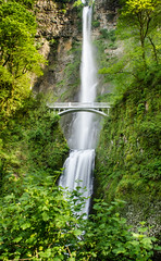Multnomah Falls, Oregon (vamsikrishnamaringanti) Tags: multnomahfalls oregon waterfall longexposure portland waterfalls outdoors tree scenic landscape day usa bridge fallingwater beautyinnature nature nobody