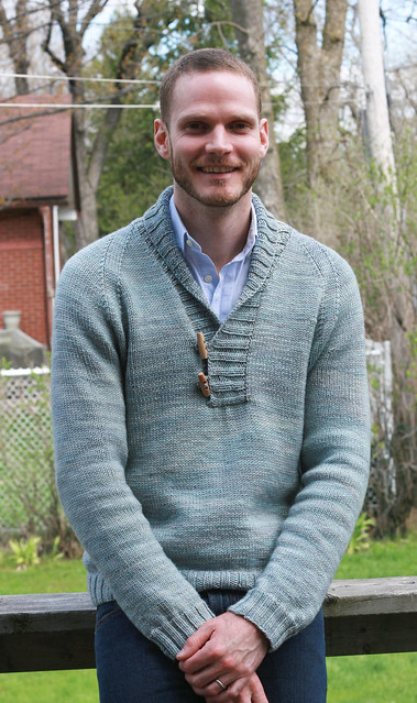 Chris in his gorgeous Brownstone pullover