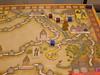 私(青)は相方(紫)が既に2つの部下を配置した通商路に部下コマを割り込ませました。