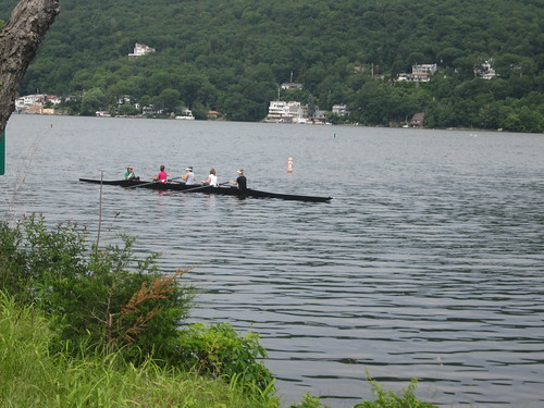 Rowing class on Greenwood Lake
