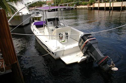 neighbor's boat, note iguana