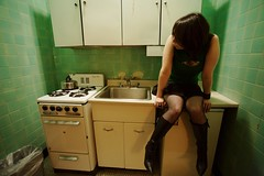 Briana in the Kitchen | New York City (ldandersen) Tags: nyc newyorkcity newyork kitchen hotel chelsea chelseahotel brianamowrey