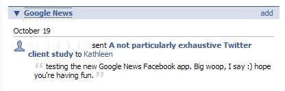 Google News in Facebook