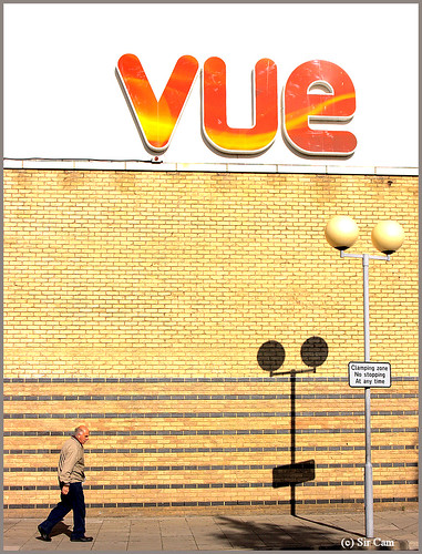 by the Vue Cinema in Cambridge.
