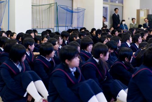 Nagai Minami Jr. High School students