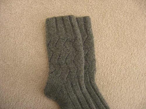 Felted Horcrux socks